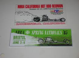 Nhra Vintage Drag Racing Decal Sticker Lot Us Nationals Hot Rod Reunion Gasser 1719888039