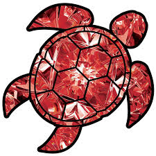 Ruby Sea Turtle Birthstone Decal July Print Sticker Vinyl Rear Window Redhoundauto Com