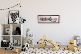 Nursery Name Signpersonalized Wooden Name Sign For Baby Room Etsy