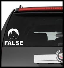 Vinyl Decal Truck Car Sticker Laptop The Office Dwight Schrute False Ebay