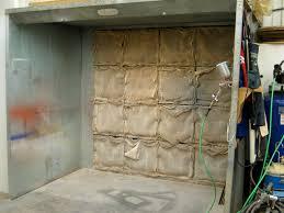 spray booth for a small por