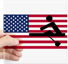 Amazon Com Cafepress Rowing American Flag Sticker Square Bumper Sticker Car Decal 3 X3 Small Or 5 X5 Large Home Kitchen