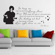 Ed Sheeran Thinking Out Loud Quote Vinyl Wall Art Sticker Decal Independence