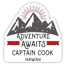 Captain Cook Hawaii Souvenir 4 Inch Vinyl Decal Sticker Adventure Awaits Design Walmart Com Walmart Com