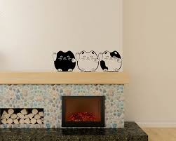 A Set Of Cats Wall Decal Baby Nursery Animal Stickers For Kids Room