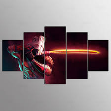 Hd Print 5pcs Dota 2 Canvas Wall Art Painting Poster Modern Home Decor Wall Art Decor Picture For Living Room Decor Pt1524 Decorative Pictures Picture For Living Roomhd Prints Aliexpress