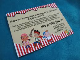 Tarjetas Invitacion Cumpleanos Infantil Jake Y Los Piratas 22