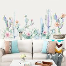 Cactus Wall Decal The Treasure Thrift