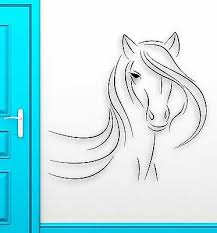 Wall Sticker Vinyl Decal Beautiful Horse Animal Abstract