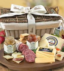 deluxe epicurean meat cheese gift basket