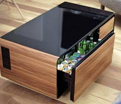 coffee table with built in fridge