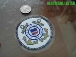 United States Coast Guard Round 3 Window Static Cling Decal Sticker Uscg Anchor Ebay