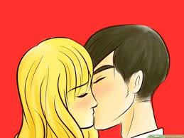 how to draw people kissing with