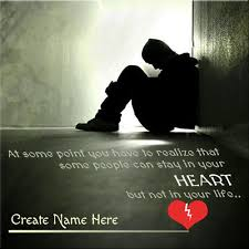 name on broken heart boy picture