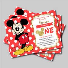 14 Unids Lote De Invitacion De Mickey Mouse De Cumpleanos Para