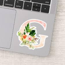 Monogram Monogrammed Initial Letter Laptop Stickers Skins Zazzle