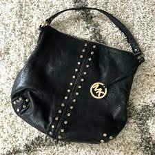 michael kors black studded bag m purses