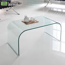 china modern bent clear glass top