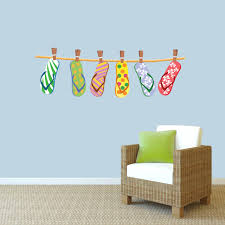 Hanging Flip Flops Printed Wall Decals Wall Decor Stickers