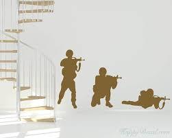 Soldier Vinyl Decals Silhouette Modern Wall Art Sticker