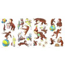 Roommates Curious George Storybook Wall Decals