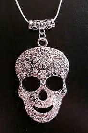sugar skull necklace charm pendant
