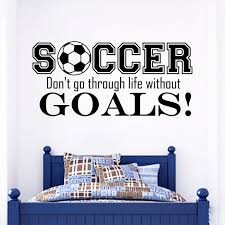Wall Decals Quotes Sport Soccer Gym Art Bedroom Decal Vinyl Sticker Decor Wish