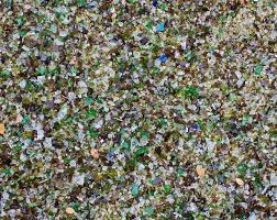 glass mulch rocks getting grounded