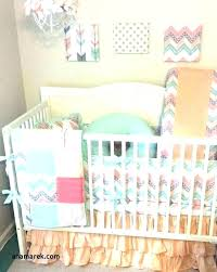c and gold crib bedding peach