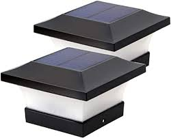 Amazon Com Solar Post Lights Outdoor Waterproof Led Post Cap Lights For 4x4 Wooden Posts Square Black Landscape Post Lamp For Deck Patio Fence White Light 6000k Home Improvement