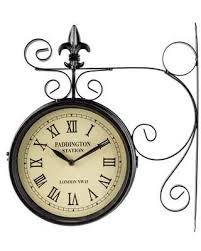 Get This Deal On Black Dual Face Paddington Station Wall Clock