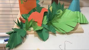 diy jungle leaf centerpieces how to