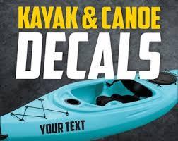 Kayak Decal Etsy