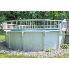 Pureline Resin Pool Fence Kit C 3 Section White For Above Ground Pools Pl0096 Inyopools Com