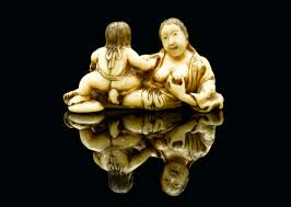 File:Ivory netsuke showing a mother breastfeeding a child, Japan Wellcome  L0058577.jpg - Wikimedia Commons