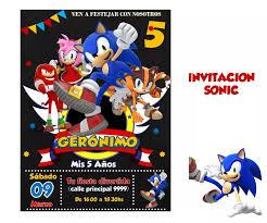 Invitacion Sonic En 2020 Cumpleanos De Sonic Fiesta De Sonic