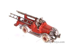 hubley fire truck with ladders from the