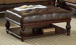 brown leather tufted ottoman hcjb info