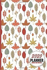 fall and autumn season planner weekly and monthly calendar