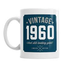 60th birthday mug present gift retro