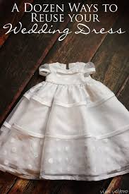 what i did with my wedding dress a