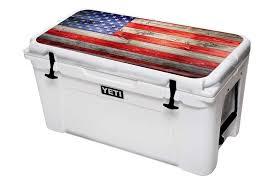 Amazon Com Designer Skin Sticker Fits Yeti Cooler Ice Chest Lid Kit 65qt American Flag Sports Outdoors Yeti Yeti Cooler Cooler