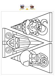 Kleurplaat Sinterklaas Slinger