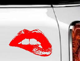 Amazon Com Bestpriceddecals Lips 2 Biting Bottom Lip Wall Or Window Decal 13 X 20 Home Kitchen