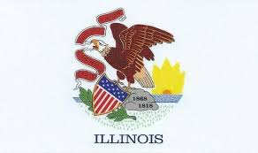 5in X 3in Illinois State Flag Bumper Magnet Car Magnetic Magnets Car Stickertalk