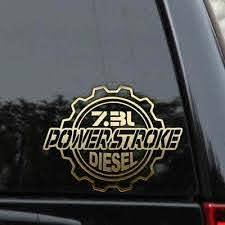 Powerstroke 7 3l Diesel Truck Decal Sticker Ford Turbo F250 F350 Window Laptop Ebay