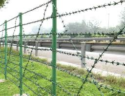 Wire Materials Galvanized Steel Wire Pvc Coated Iron Wire In Blue Green Yellow And Other Colors General Use B Barbed Wire Fencing Wire Fence Barbed Wire
