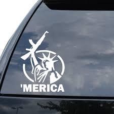 Merica Gun Decal Rifle Ak47 Pistol Sticker Car Window Vinyl Decal Funny Poster Motorcycle Sticker Car Vinyl Decalcar Sticker Aliexpress