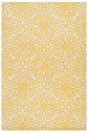 yellow area rug