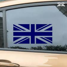 Uk British Flag Union Jack Britain Car Sticker Blue Vinyl Decal 2 6 16 Ebay